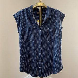 NWT Navy Blue Top